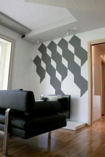 Decorazione lucido-opaco per mini-appartamento,Lucca.