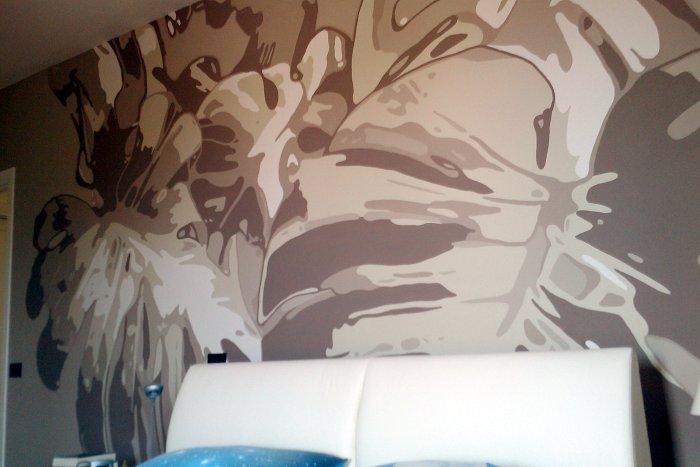 """Decorazione """"Foglie tropicali"""". - Di•Segno studio creativo"""