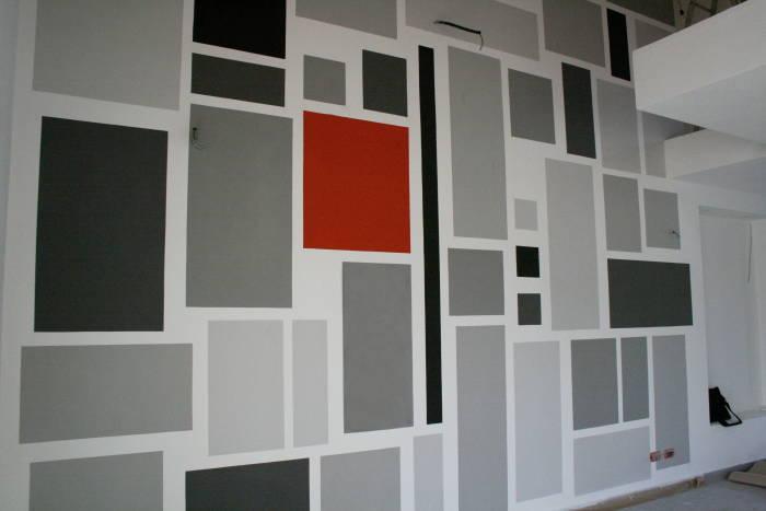 Decorazione geometrica,per interno abitazione,Lucca. Continua a ...