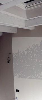 """Decorazioni realizzate per camera da letto,""""Dettaglio di Cipresso."""