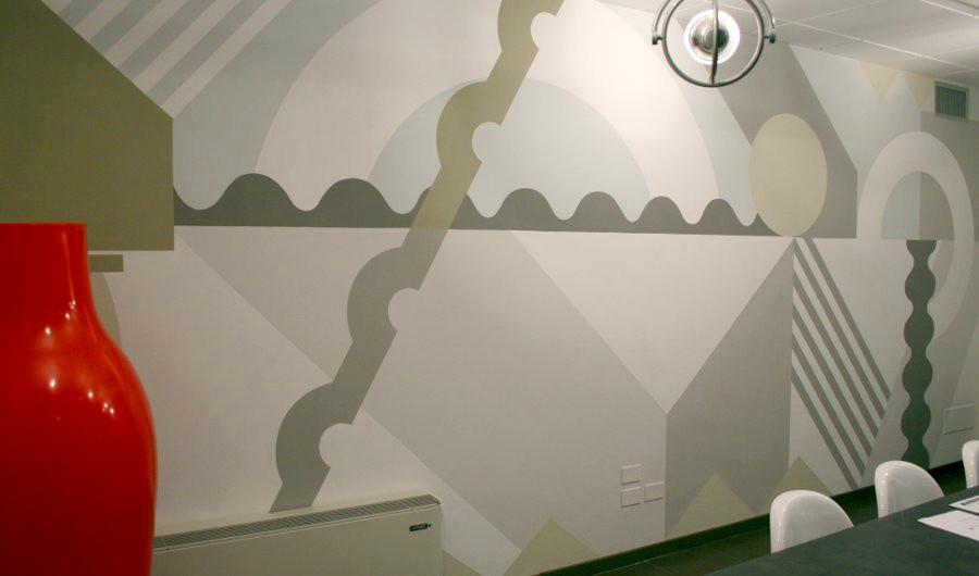 decorazione murale a Lucca