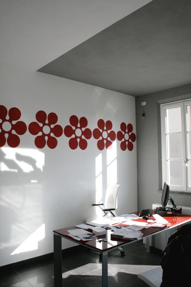 Progetto del Colore e decorazioni per Agenzia Immobiliare Focus Lucca