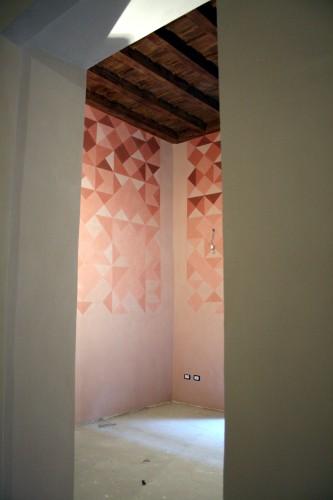 Decoro S.Niccolò.Pitture murali realizzate per appartamento, Firenze.